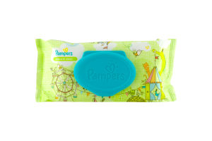 Pampers Natural Clean Unscented Wipes - 64 CT