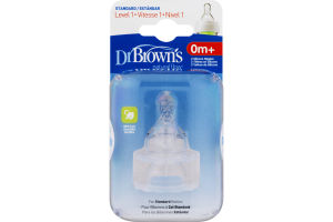 Dr Brown's Natural Flow Silicone Nipples Standard Level 1 0m+ - 2 CT