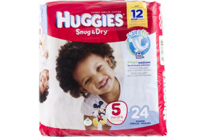 Huggies Snug & Dry Disney Baby Stage 5 Diapers (Over 27 lb) - 24 CT