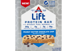 Atkins Lift Protein Bar Peanut Butter Chocolate Chip - 9 CT