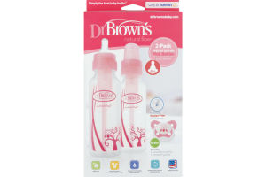 Dr Brown's Special Edition Pink Feeding Bottles - 2 PK