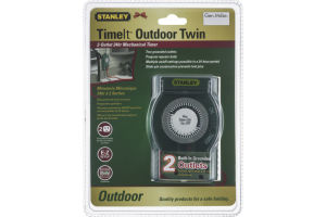 Stanley TimeIt Outdoor Twin 2 Outlet 24hr Mechanical Timer