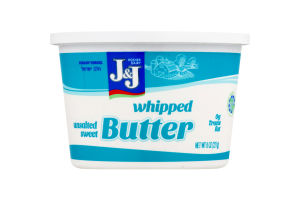 J&J Whipped Butter Unsalted Sweet