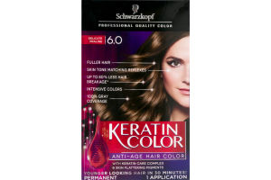 Schwarzkopf Keratin Color Permanent Anti-Age Hair Color Delicate Praline 6.0
