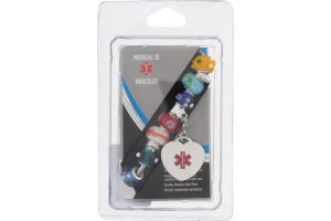 Medical ID Bracelet Multi-Color Bead