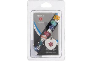 Medical ID Bracelet Multi-Color Bead