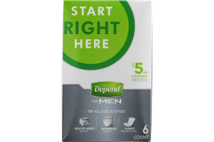 Depend for Men Kit - 6 CT