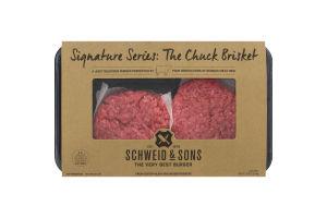 Schweid & Sons Fresh Custom Blend Ground Beef Burgers Signature Series: The Chuck Brisket - 4 CT
