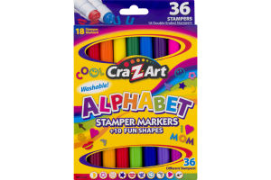 Cra-Z-Art Alphabet Stamper Markers - 36 CT