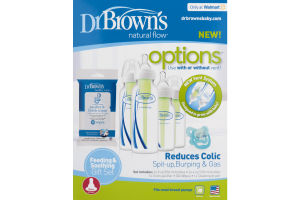 Dr. Brown's Natural Flow Options Feeding & Soothing Gift Set