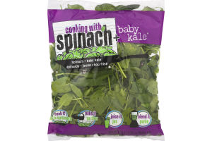 Cooking With Spinach + Baby Kale