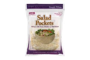 Kangaroo Salad Pockets Simply White - 6 CT
