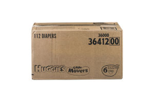 Huggies Little Movers Diapers Size 6 - 112 CT