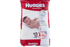 Huggies Snug & Dry Diapers Disney Size 1 8-14 LB - 50 CT