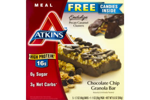 Atkins Meal Replacement Bar Chocolate Chip Granola - 5 CT