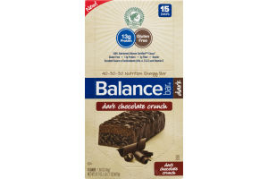 Balance Bar Dark Chocolate Crunch - 15 CT