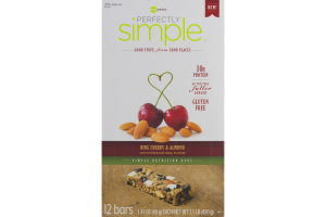 Perfectly Simple Nutrition Bars Bing Cherry & Almond - 12 CT