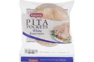 Kangaroo Pita Pockets White - 6 CT