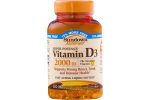 Sundown Naturals Super Potency Vitamin D3 Liquid Softgels - 350 CT