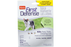 Hartz First Defense Tropical treatment For Cats & kittens - 3 CT