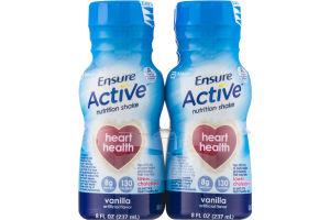 Ensure Active Nutrition Shake Vanilla - 4 CT