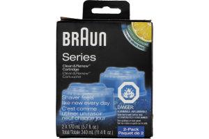 Braun Series Clean & Renew Cartridge - 2 CT