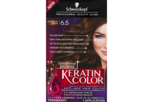 Schwarzkopf Keratin Color Permanent Anti-Age Hair Color Sensational Browns Light Golden Brown 6.5