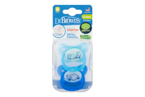 Dr Brown's Suction-Free Pacifiers 0-6m - 2 CT