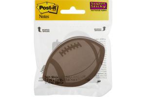 Post-it Notes Super Sticky Football Shape - 50 CT