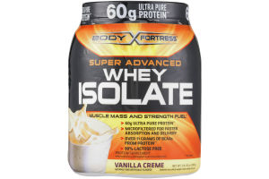 Body Fortress Super Advanced Whey Isolate Protein Supplement Vanilla Creme