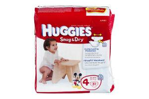 Huggies Snug & Dry Diapers Disney Size 4 - 22-37 Lb