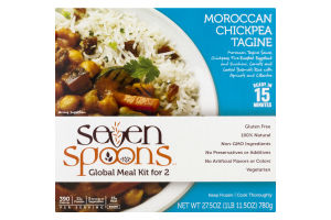 Seven Spoons Global Meal Kit for 2 Moroccan Chickpea Tagine