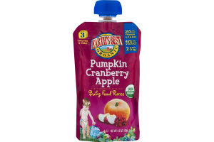 Earth's Best Organic Pumpkin Cranberry Apple Baby Food Puree Stage 3