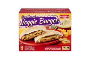Sandwich Bros. of Wisconsin Southwest Veggie Burger Individually Wrapped - 6 CT