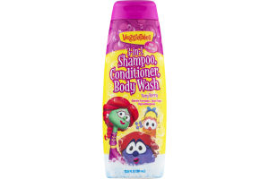 VeggieTales 3-in-1 Shampoo, Conditioner, Body Wash Very Berry