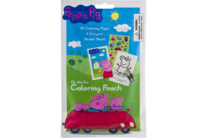 Peppa Pig On The Go Coloring Pouch