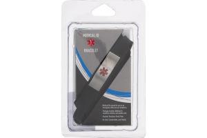 Medical ID Bracelet Rubberband Watch