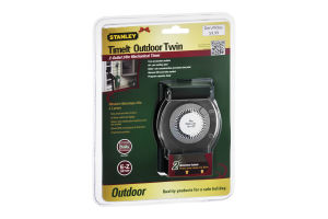 Stanley TimeIt Outdoor Twin Mechanical Timer