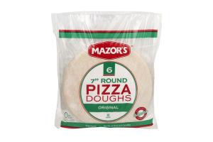 "Mazor's 7"" Round Pizza Doughs Original - 6 CT"