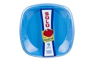 Solo Squared 9in Plastic Plates - 15 CT