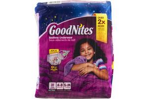 GoodNites Bedtime Underwear S-M - 31 CT