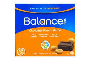 Balance Bar Nutrition Bars Chocolate Peanut Butter - 6 CT