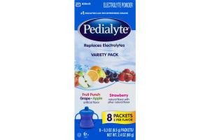 Pedialyte Electrolyte Powder Variety Pack - 8 CT