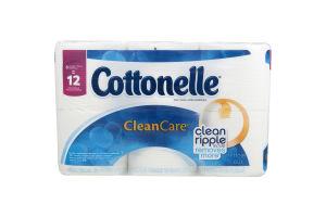 Cottonelle Toilet Paper Clean Care Double Rolls - 6 CT