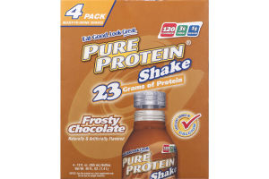 Pure Protein Shake Frosty Chocolate - 4 PK