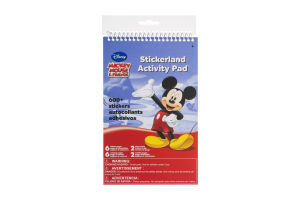 Disney Mickey Mouse & Friends Stickerland Activity Pad - 600 CT