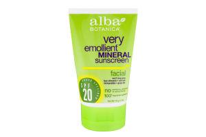 Alba Botanica Very Emollient Mineral Sunscreen Facial SPF 20