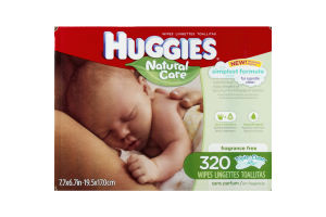 Huggies Natural Care Wipes - 320 CT