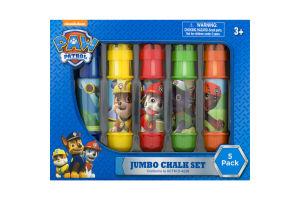 Nickelodean Paw Patrol Jumbo Chalk Set - 5 PK