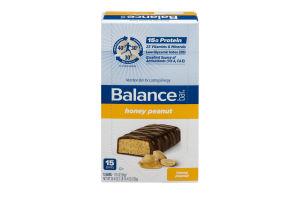 Balance Bar Nutrition Bar Honey Peanut - 15 CT